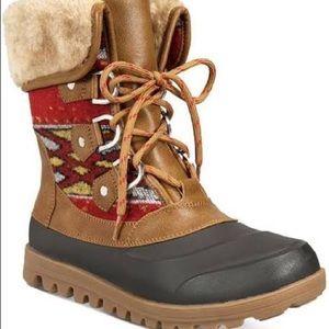 Baretraps faux fur duck boots
